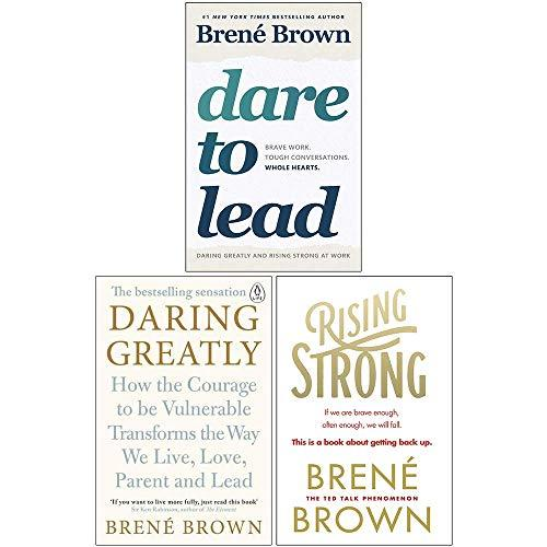 Dare to Lead, Daring Greatly, Rising Strong 3 Books Collection Set by Brené Brown