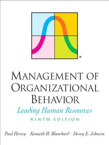 Management of Organizational Behavior (9th Edition)