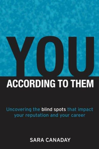 You -- According to Them: Uncovering the blind spots that impact your reputation and your career