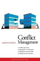 Conflict Management book summary