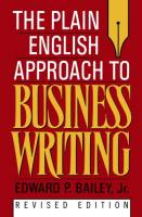 The Plain English Approach to Business Writing book summary