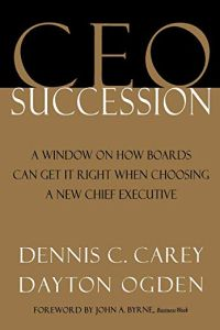 CEO Succession book summary