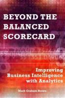 Beyond the Balanced Scorecard book summary
