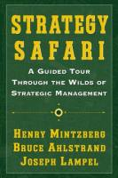 Strategy Safari book summary