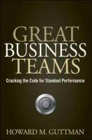 Great Business Teams book summary
