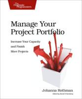 Manage Your Project Portfolio