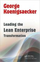 Leading the Lean Enterprise Transformation book summary