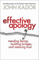 Effective Apology book summary