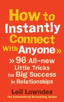 How to Instantly Connect with Anyone book summary
