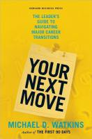 Your Next Move book summary