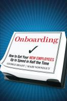 Onboarding book summary