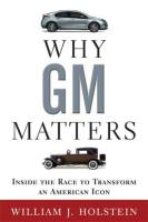 Why GM Matters book summary