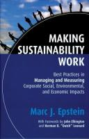 Making Sustainability Work book summary