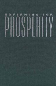 Governing for Prosperity book summary