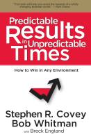 Predictable Results in Unpredictable Times book summary