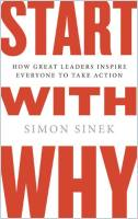 Start with Why book summary