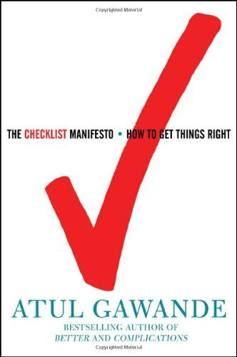 Image of: The Checklist Manifesto