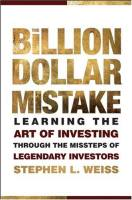 The Billion Dollar Mistake book summary