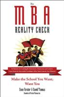 The MBA Reality Check book summary