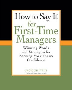 How To Say It for First-Time Managers book summary