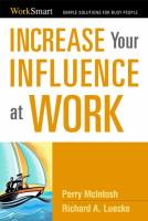 Increase Your Influence at Work book summary