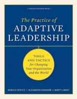 The Practice of Adaptive Leadership book summary