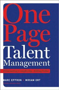 One Page Talent Management book summary