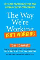 The Way We're Working Isn't Working book summary