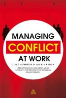 Managing Conflict at Work book summary