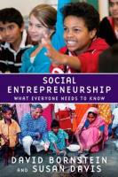 Social Entrepreneurship book summary