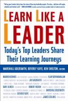Learn Like a Leader book summary