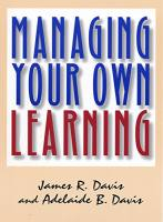 Managing Your Own Learning book summary