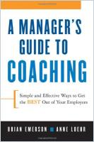 A Manager's Guide to Coaching book summary