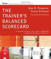 The Trainer's Balanced Scorecard book summary