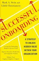 Successful Onboarding book summary