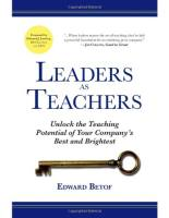 Leaders as Teachers book summary