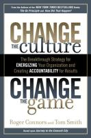 Change the Culture, Change the Game book summary