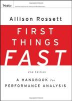 First Things Fast book summary