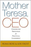 Mother Teresa, CEO book summary
