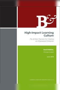 High-Impact Learning Culture book summary