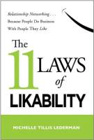 The 11 Laws of Likability book summary