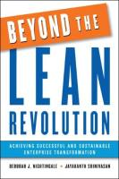 Beyond the Lean Revolution book summary