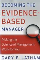 Becoming the Evidence-Based Manager book summary