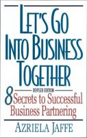 Let's Go Into Business Together book summary