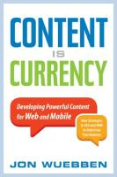 Content Is Currency book summary
