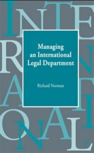 Managing an International Legal Department book summary