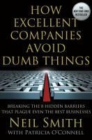 How Excellent Companies Avoid Dumb Things book summary