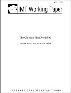 The Chicago Plan Revisited summary