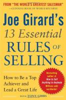Joe Girard's 13 Essential Rules of Selling book summary