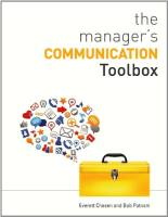 The Manager's Communication Toolbox book summary